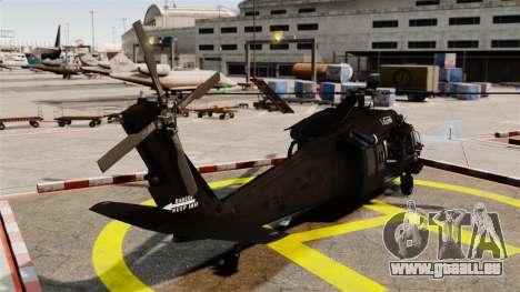 Sikorsky MH-60L Black Hawk für GTA 4 hinten links Ansicht