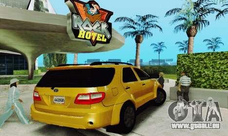 Toyota Fortuner Original 2013 für GTA San Andreas rechten Ansicht