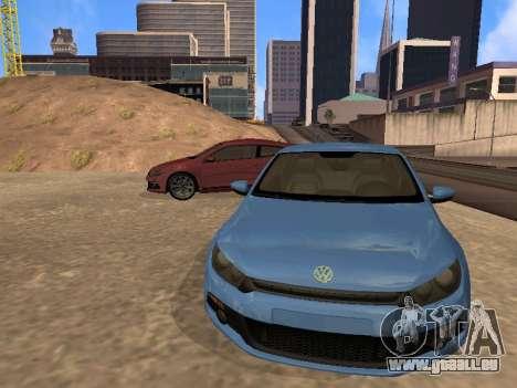 Volkswagen Scirocco pour GTA San Andreas sur la vue arrière gauche