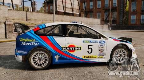 Ford Focus RS Martini WRC pour GTA 4 est une gauche