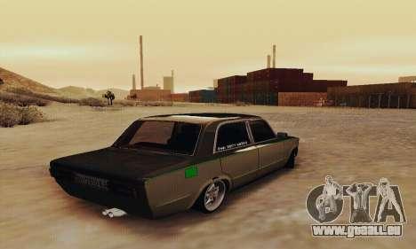 VAZ 2106 Zielonka pour GTA San Andreas sur la vue arrière gauche