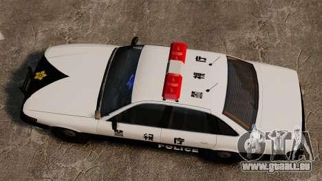 Japanische Polizei für GTA 4 rechte Ansicht