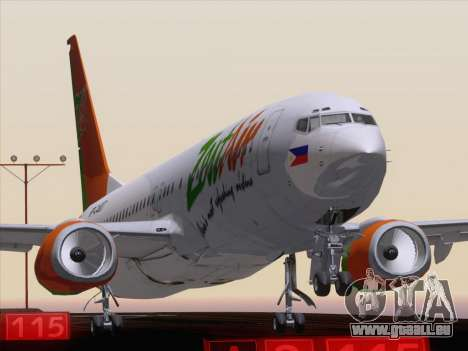 Boeing 737-800 Zest Air für GTA San Andreas