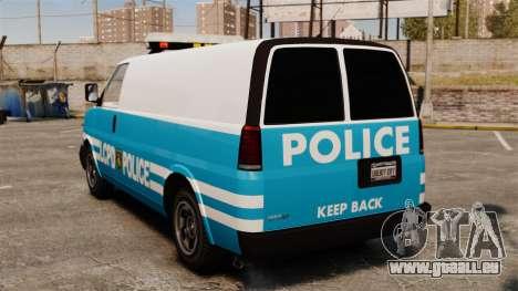LCPD Police Van für GTA 4 hinten links Ansicht