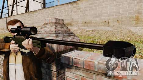 Accuracy International AW50F für GTA 4 dritte Screenshot