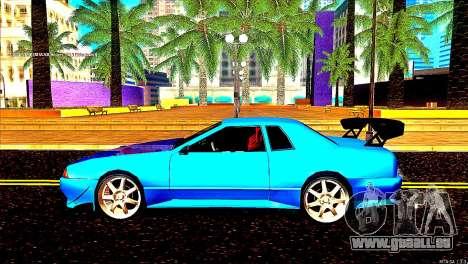 Elegy Dorifto Tune pour GTA San Andreas sur la vue arrière gauche