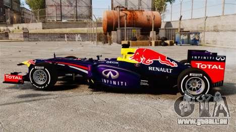 Auto, Red Bull RB9 v4 für GTA 4 linke Ansicht