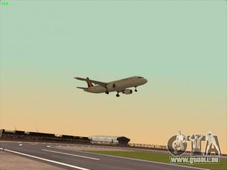 Airbus A320-211 Philippines Airlines für GTA San Andreas Rückansicht
