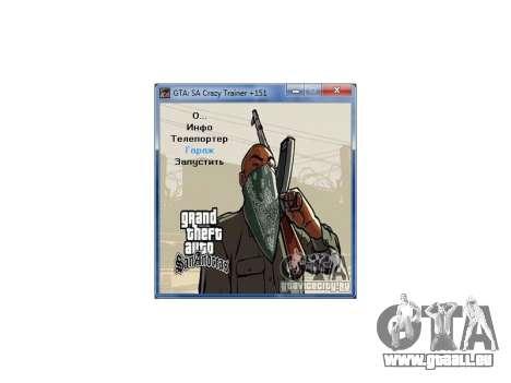 GTA San Andreas Crazy Trainer 151 v2.0 für GTA San Andreas