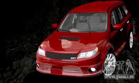 Subaru Forester RRT Sport 2008 v2.0 pour GTA San Andreas vue de dessus