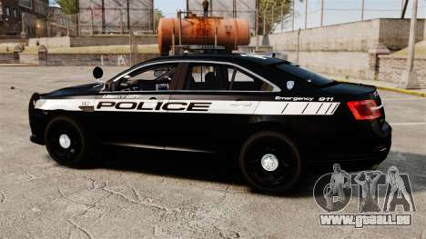Ford Taurus Police Interceptor 2013 LCPD [ELS] für GTA 4 linke Ansicht