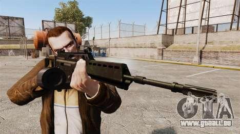Fusil d'assaut MG36 H & K v2 pour GTA 4 troisième écran