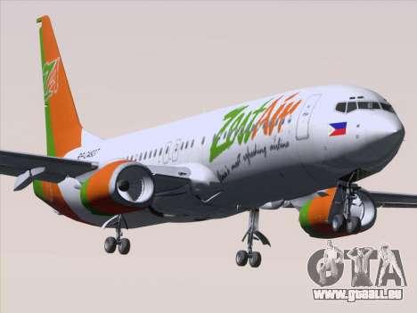 Boeing 737-800 Zest Air für GTA San Andreas Unteransicht