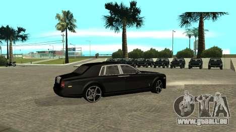 Rolls-Royce Phantom pour GTA San Andreas vue arrière