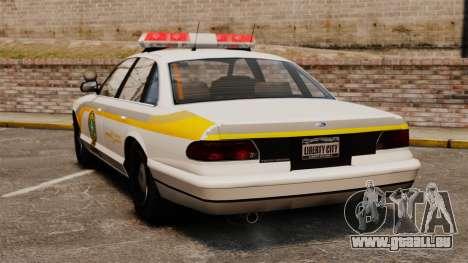 Polizei Quebec für GTA 4 hinten links Ansicht