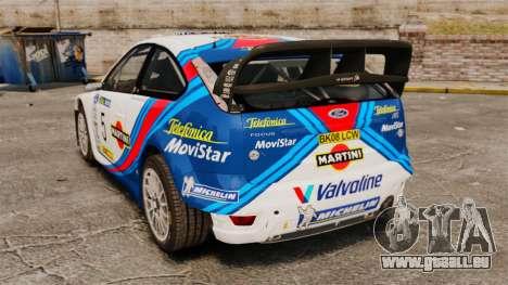 Ford Focus RS Martini WRC pour GTA 4 Vue arrière de la gauche