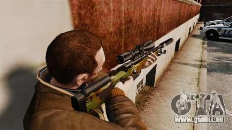 Fusil de sniper AW L115A1 avec un v8 de silencie pour GTA 4 secondes d'écran
