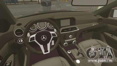 Mercedes-Benz C63 AMG BSAP (C204) 2012 pour GTA 4 est une vue de l'intérieur