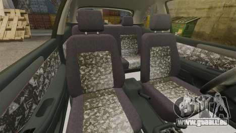 Daewoo Lanos FL 2001 pour GTA 4 est une vue de l'intérieur