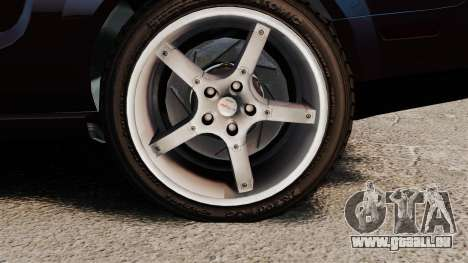 Ford Mustang Shelby GT500KR 2008 pour GTA 4 Vue arrière