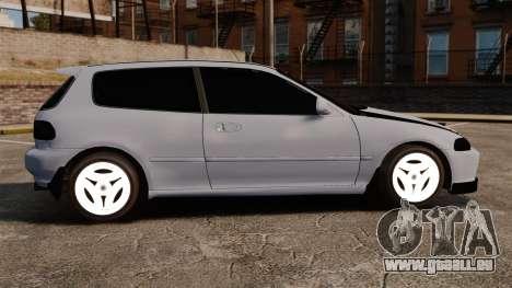 Honda Civic Gtaciyiz pour GTA 4 est une gauche