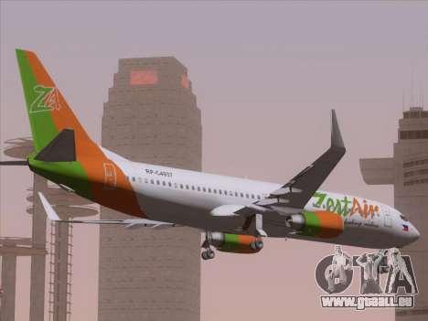 Boeing 737-800 Zest Air für GTA San Andreas Seitenansicht