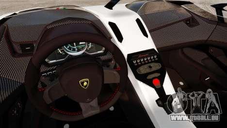 Lamborghini Aventador J 2012 Tricolore für GTA 4 hinten links Ansicht