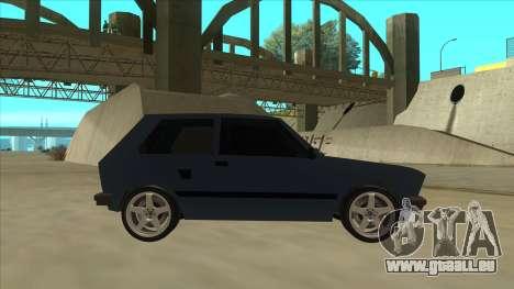 Zastava Yugo 1.1 pour GTA San Andreas sur la vue arrière gauche