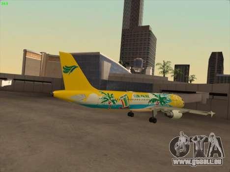 Airbus A320-211 Cebu Pacific Airlines pour GTA San Andreas vue de droite