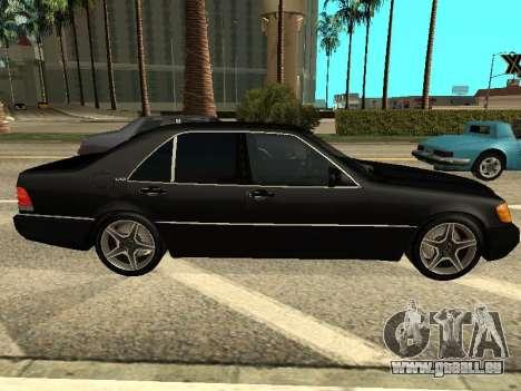 Mercedes-Benz w140 s600 für GTA San Andreas linke Ansicht