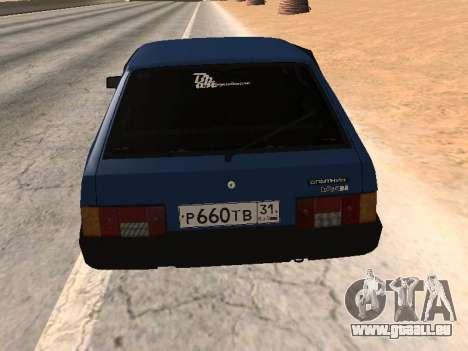 VAZ 2108 une douzaine bleu pour GTA San Andreas laissé vue