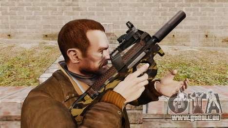 V6 de mitraillette belge FN P90 pour GTA 4