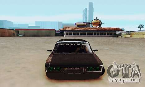 VAZ 2106 Zielonka pour GTA San Andreas vue arrière