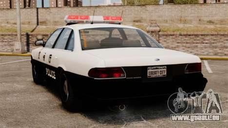Police japonaise pour GTA 4 Vue arrière de la gauche