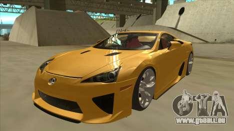 Lexus LFA Autovista 2010 pour GTA San Andreas