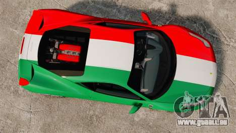 Ferrari 458 Italia 2010 Italian für GTA 4 rechte Ansicht