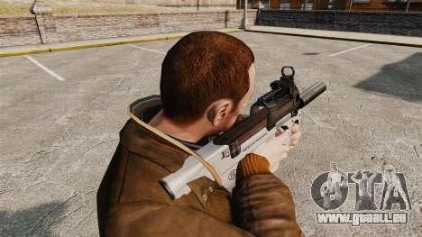 Belge FN P90 pistolet mitrailleur v3 pour GTA 4 secondes d'écran