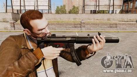 MP5SD mitraillette v5 pour GTA 4