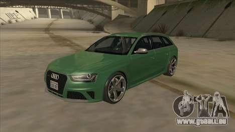Audi RS4 Avant B8 2013 V2.0 pour GTA San Andreas