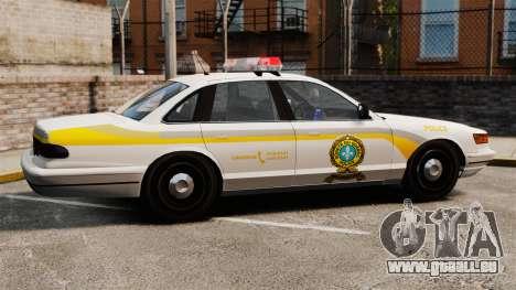 Polizei Quebec für GTA 4 linke Ansicht