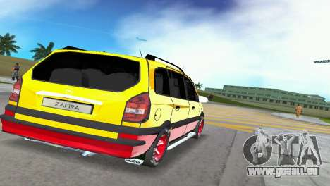 Opel Zafira pour GTA Vice City sur la vue arrière gauche