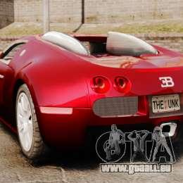Bugatti Veyron 16.4 pour GTA 4 Vue arrière de la gauche