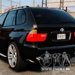 BMW X5 4.8iS v1 für GTA 4 hinten links Ansicht