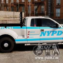 Ford F-150 v3.3 NYPD [ELS & EPM] v2 pour GTA 4 est une gauche