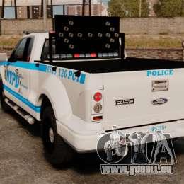 Ford F-150 v3.3 NYPD [ELS & EPM] v2 pour GTA 4 Vue arrière de la gauche