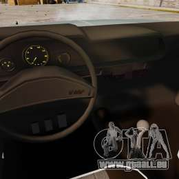 Volkswagen Brasilia pour GTA 4 est une vue de l'intérieur
