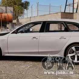 Audi RS4 Avant 2013 Sport v2.0 pour GTA 4 est une gauche