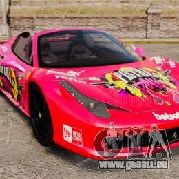 Ferrari 458 Spider Pink Pistol 027 Gumball 3000 pour GTA 4