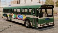 La nouvelle publicité sur le bus