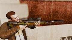 Fusil de sniper AW L115A1 avec un v8 de silencie